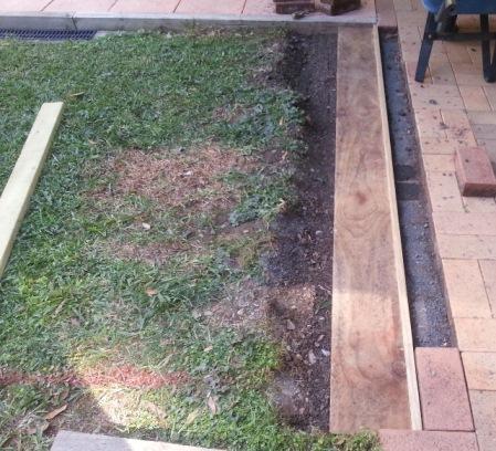 Deck foundation setup