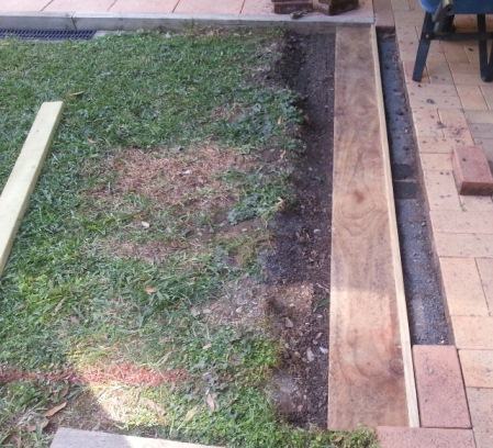 Deck foundation setup