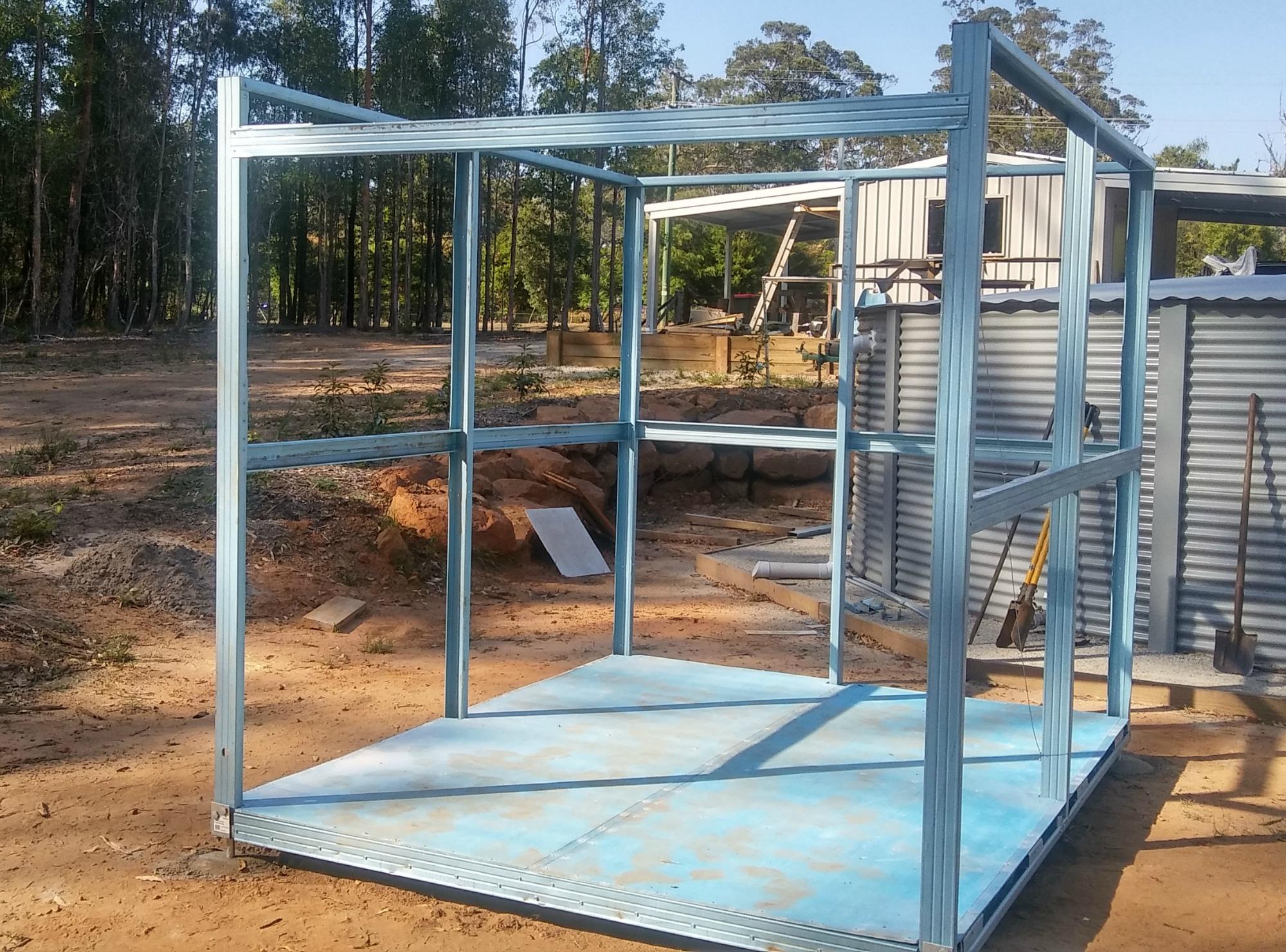 Garden shed steel frame