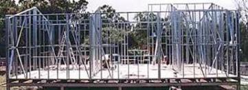 Steel building kit framing