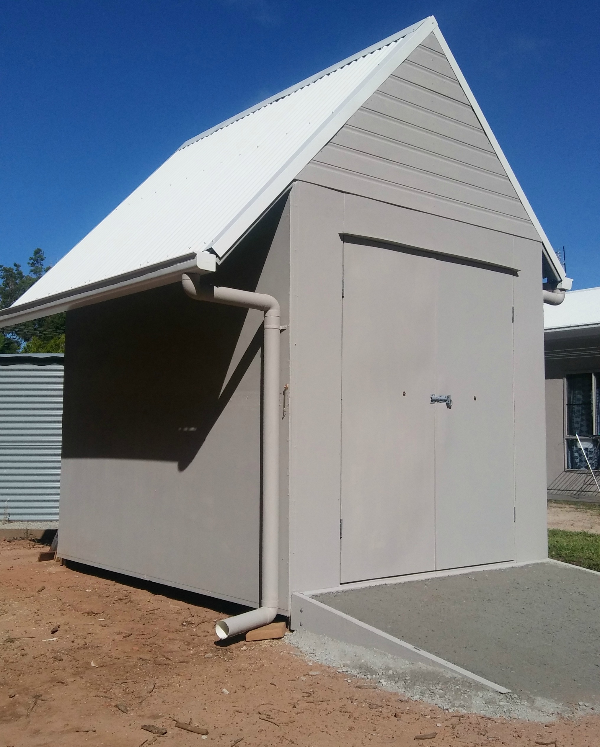 Steel Framed Sheds : How to build a steel framed garden shed