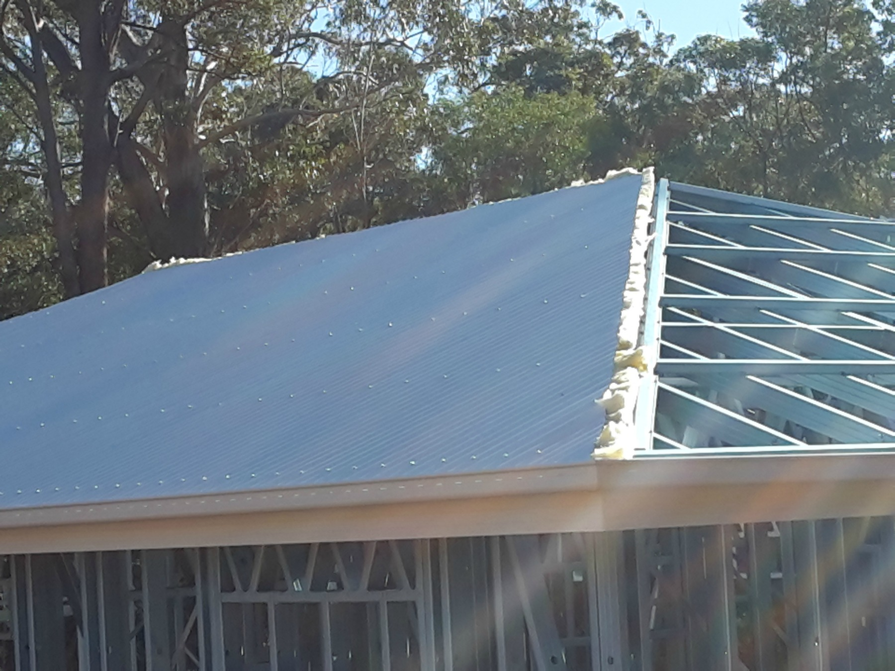 iron roof over insulation