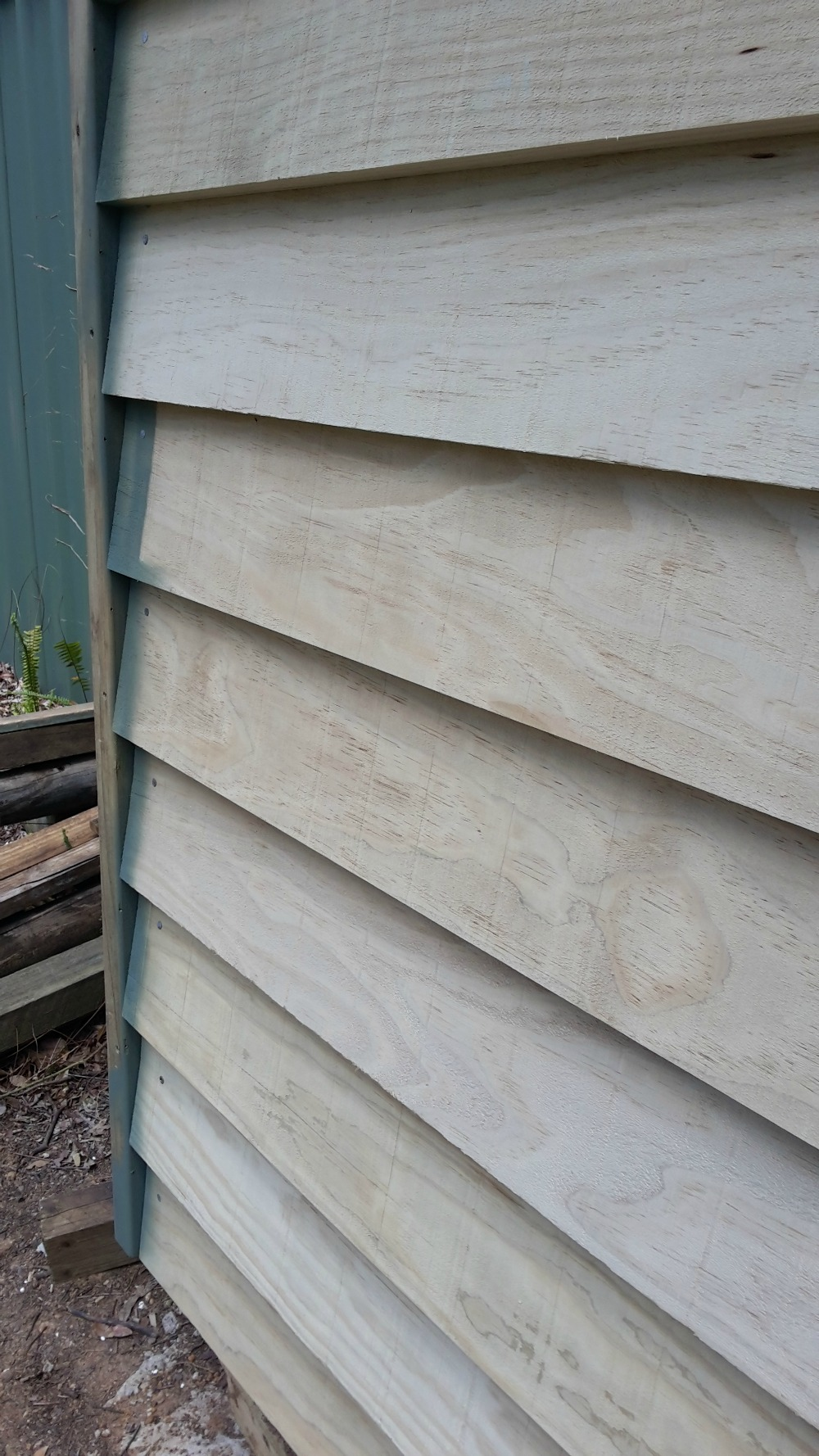Installed weatherboards