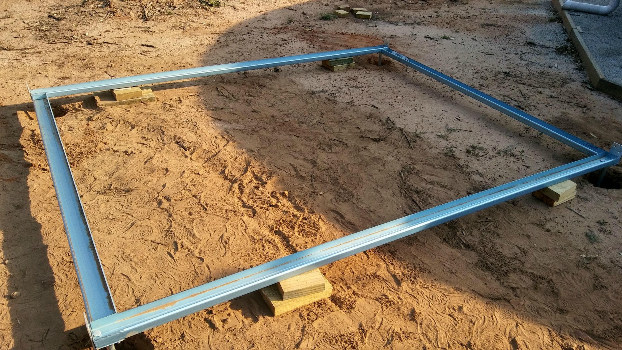 raised garden shed floor frame