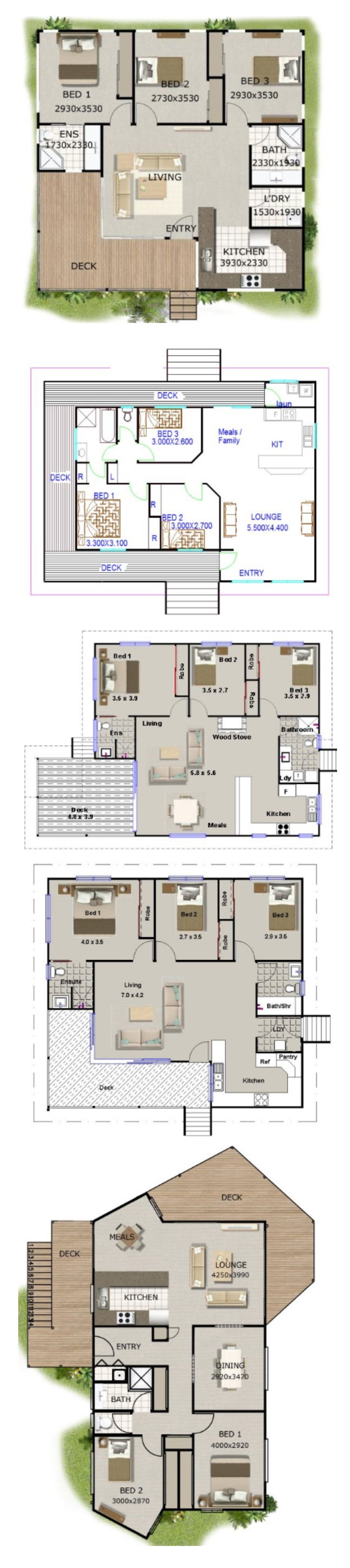 100 square meter house floor plan - Houses undersquare meters ...
