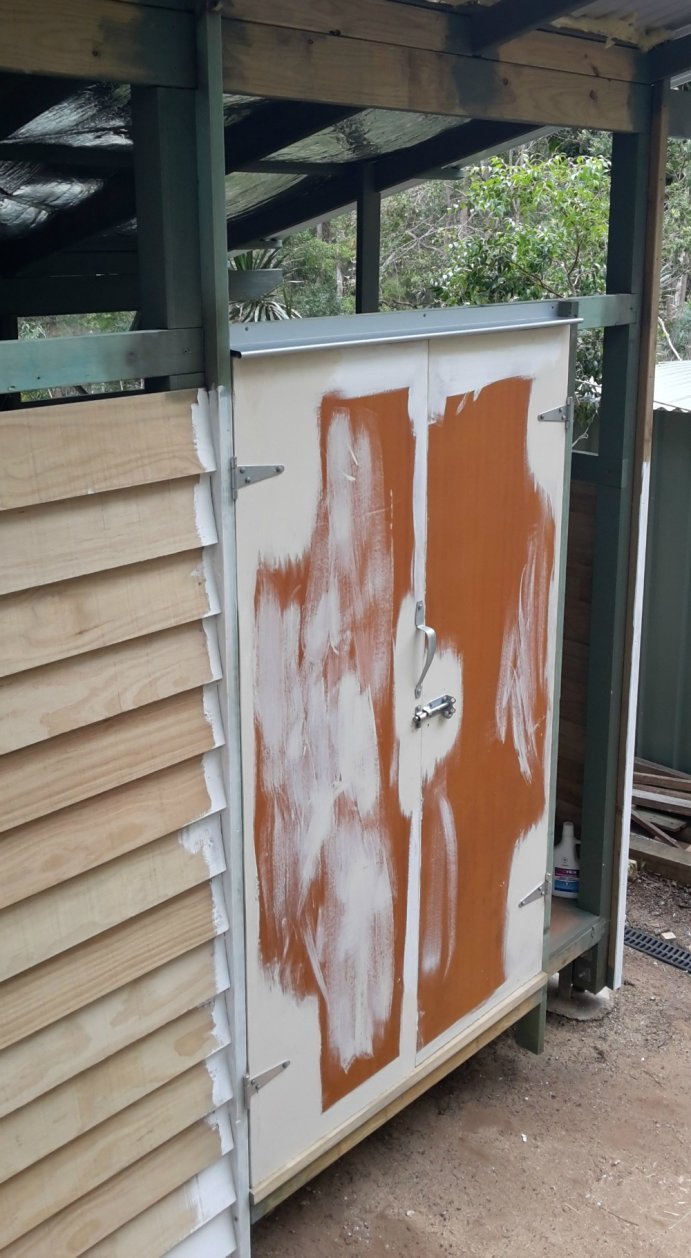 Shed doors installed