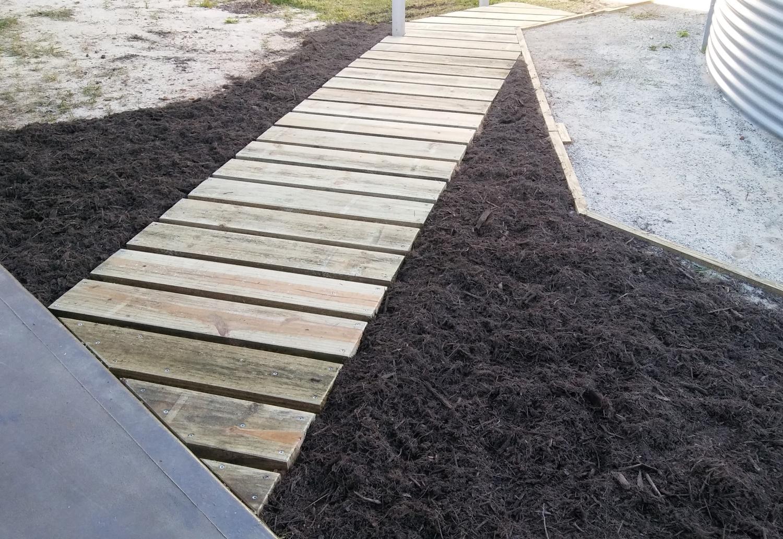 Building A Wood Sleeper Garden Path