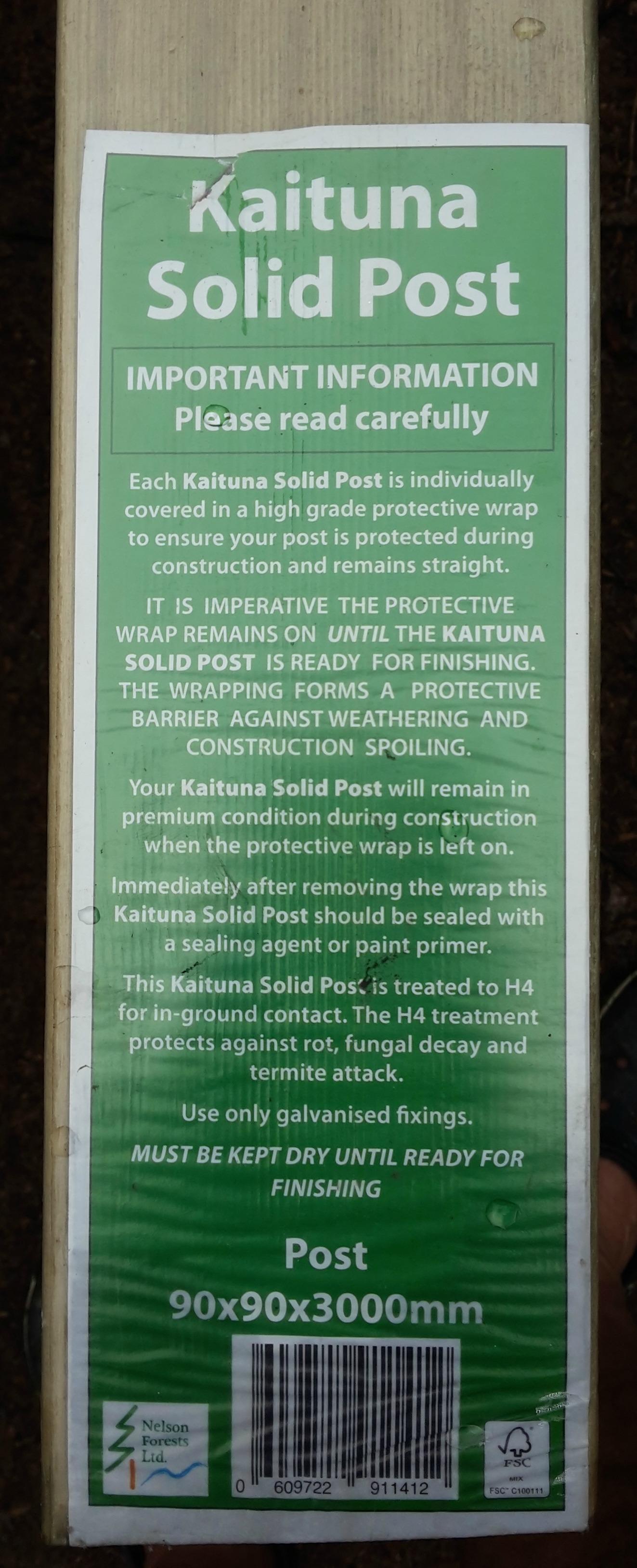 Kaituna pine post