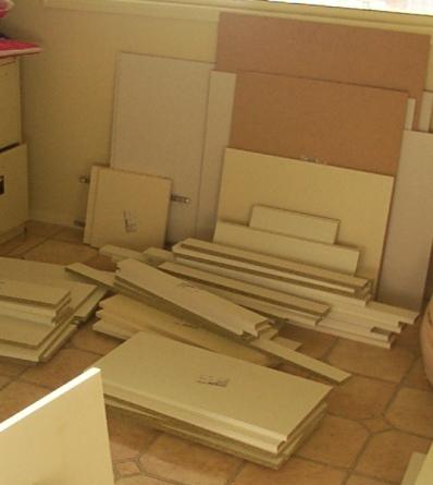 Unpacked kitchen flatpack