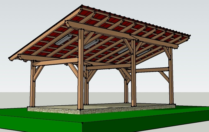 Post and beam wooden sheds for Post beam barn plans