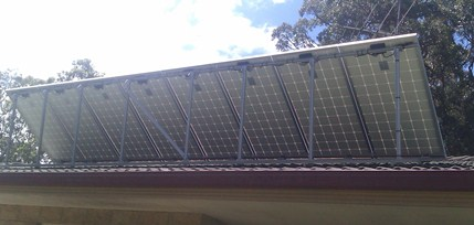 Tilt frame solar array from rear