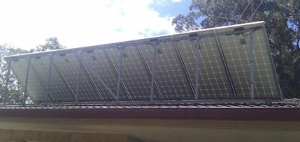 Tilt frame solar array from rear