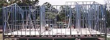 Steel building kit framing