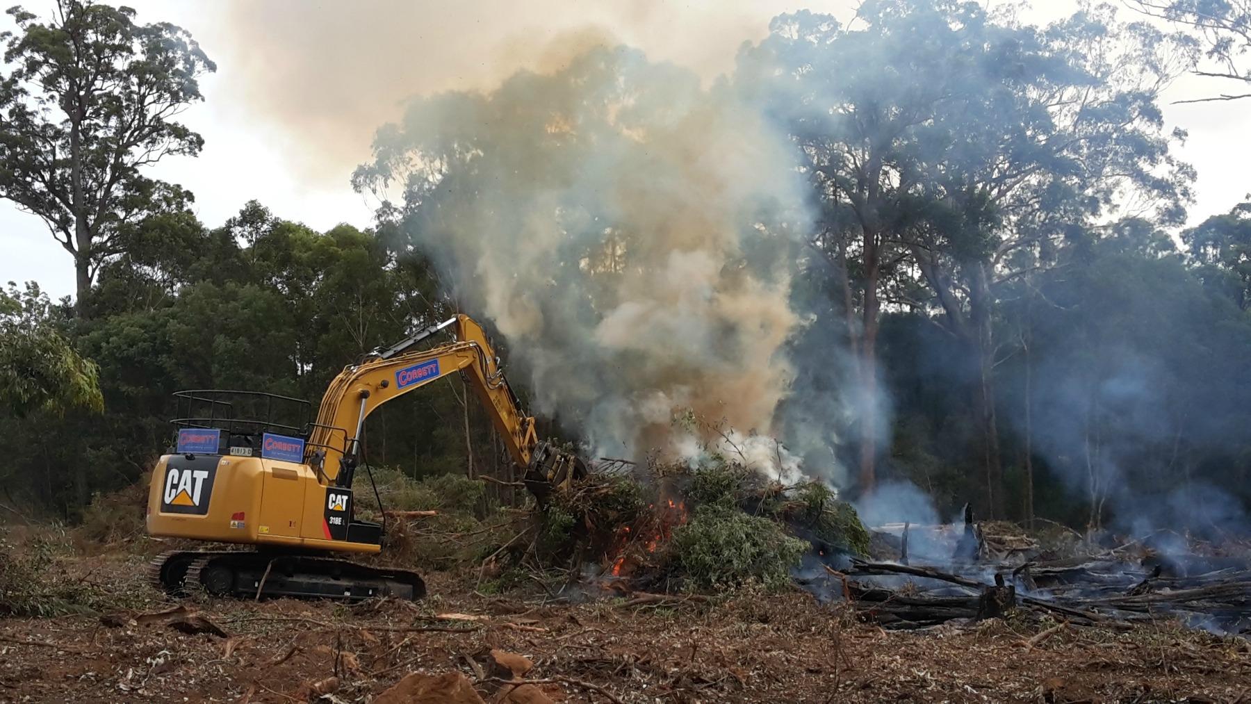 Burn pile stoking