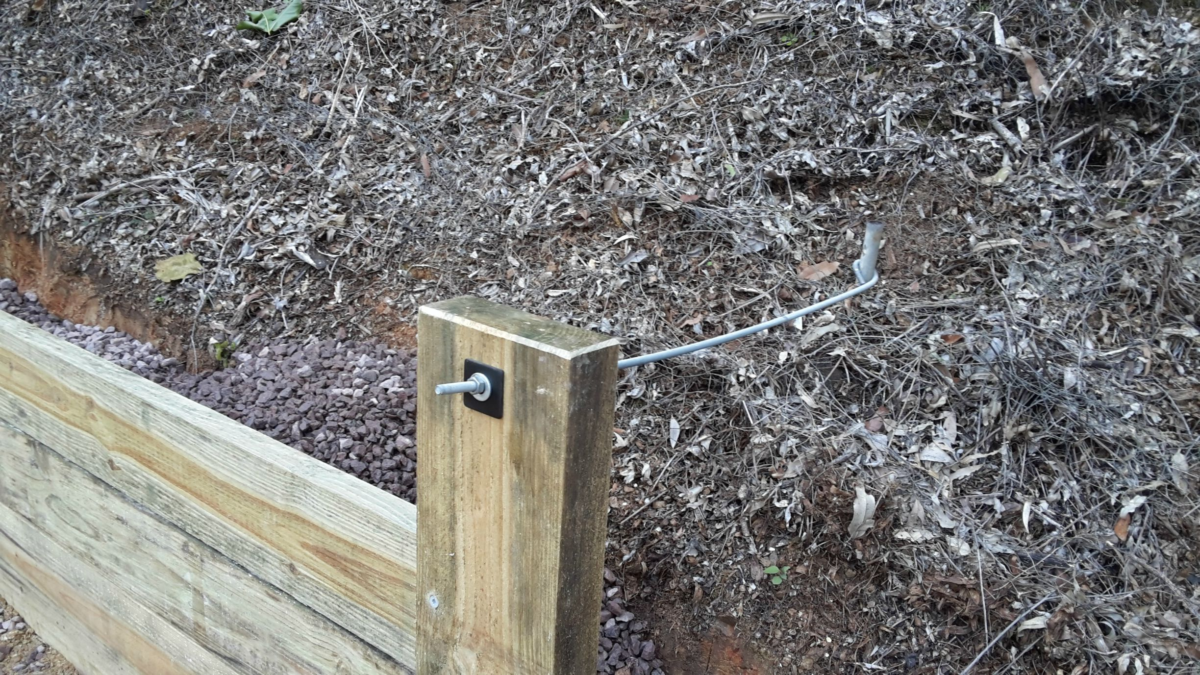 Retaining wall post support