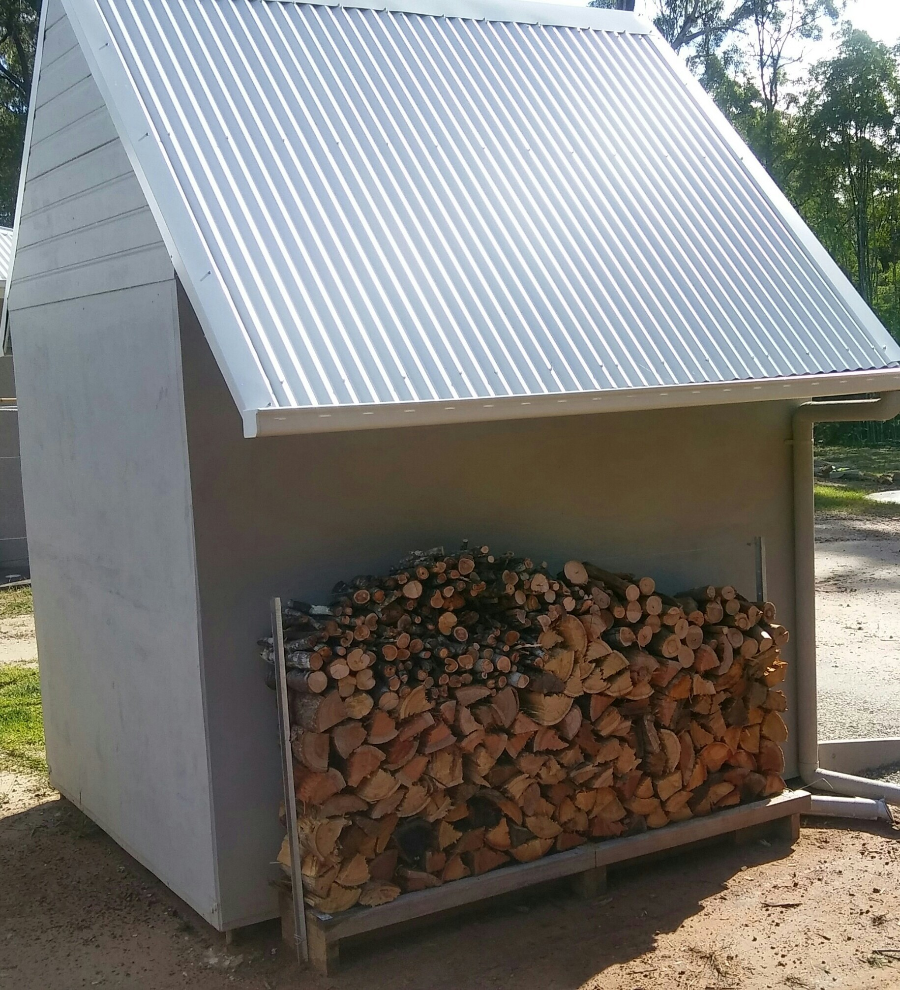 how to build a steel framed shed