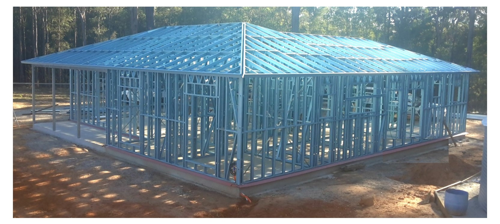 Steel Frame Building Kits : Owner building steel homes