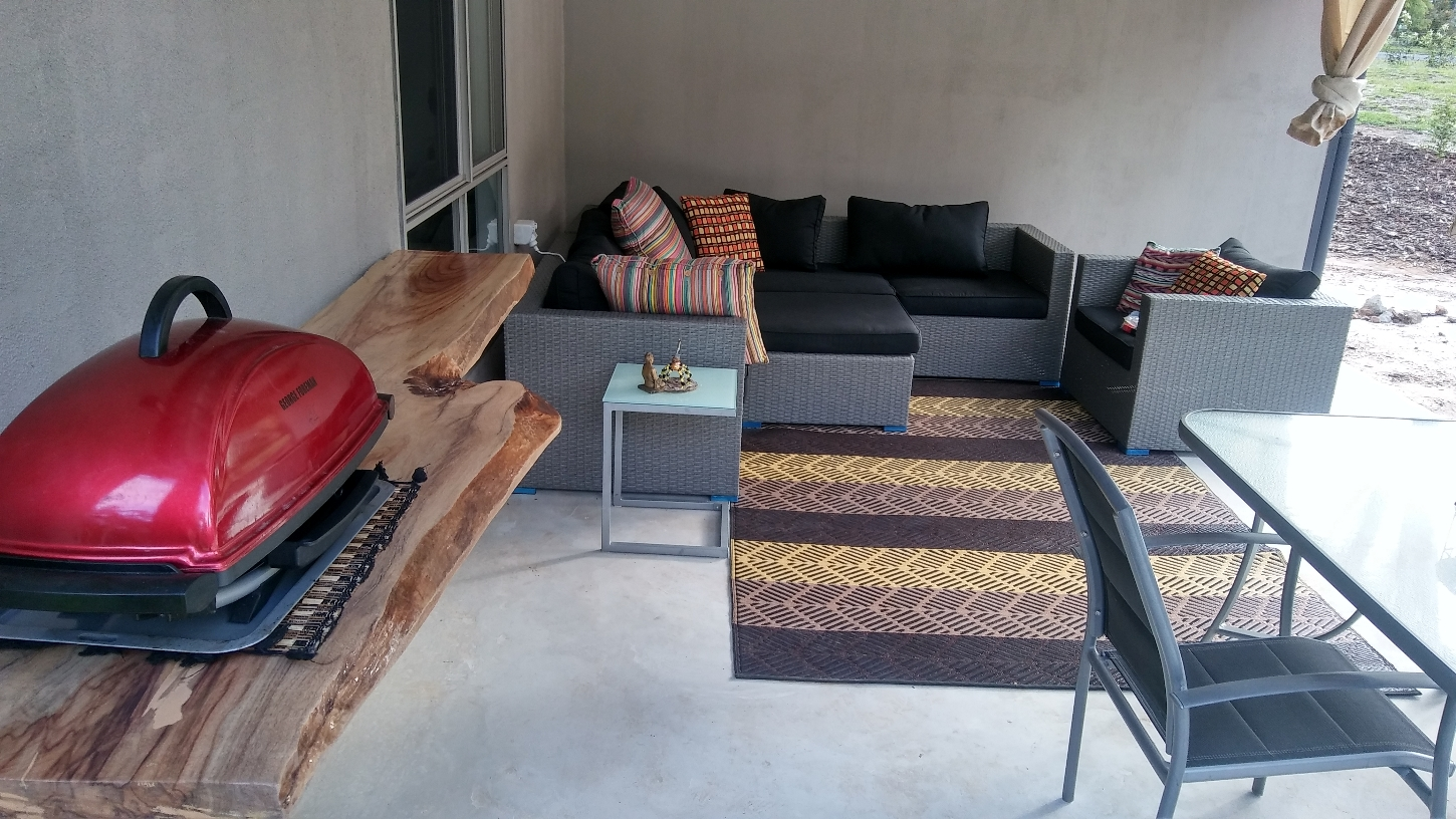Outdoor room furnished