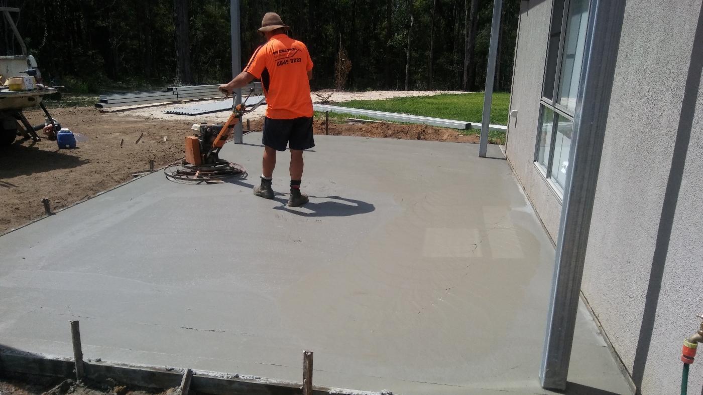 finishing concrete