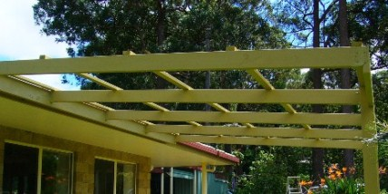 Pergola battens attached