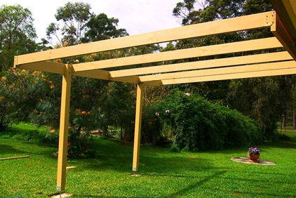 Pergola with all joists installed