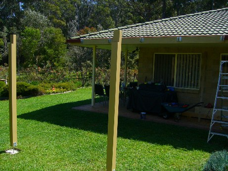 pergola supports finished