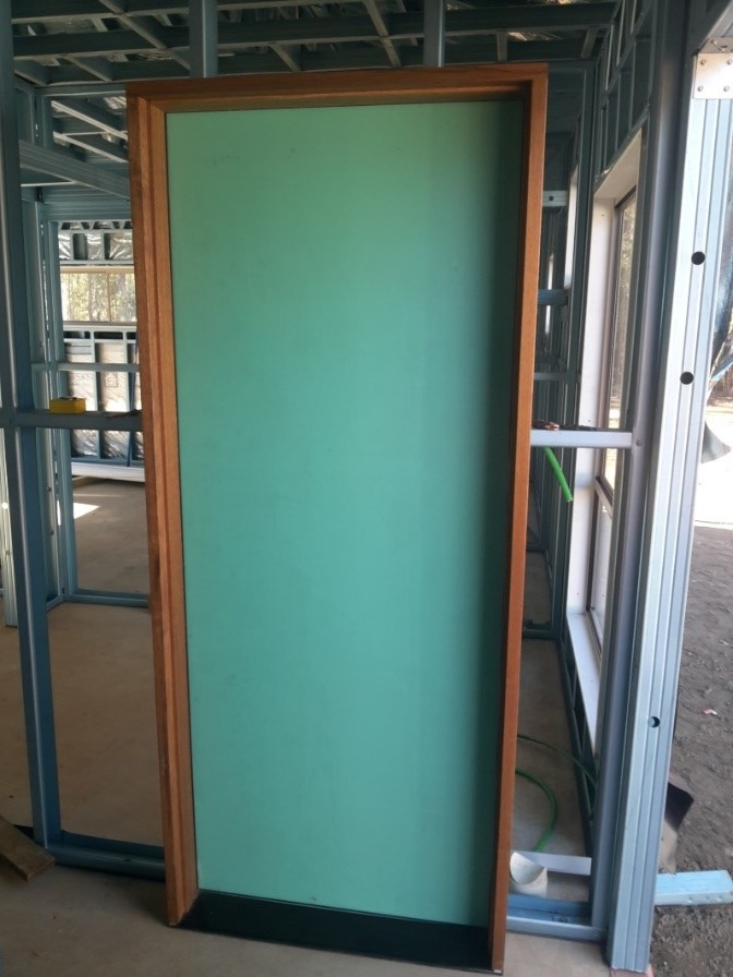 pre-hung external door