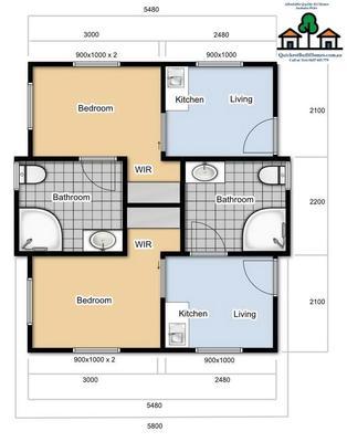 Duplex Style 2x1 Bedrooms