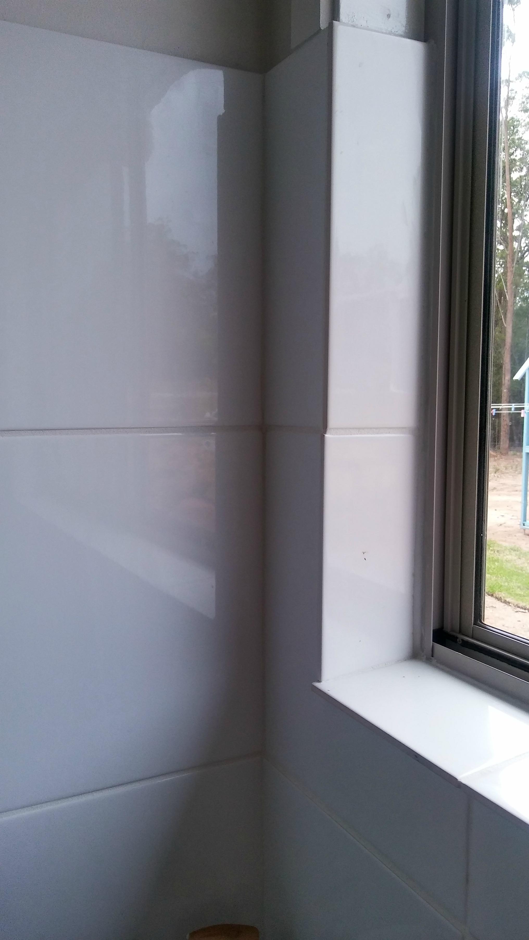 shower window sill