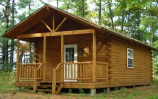 Small cabin plans for kit homes for Cheap log cabin plans