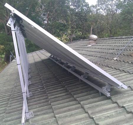 Tilted solar array