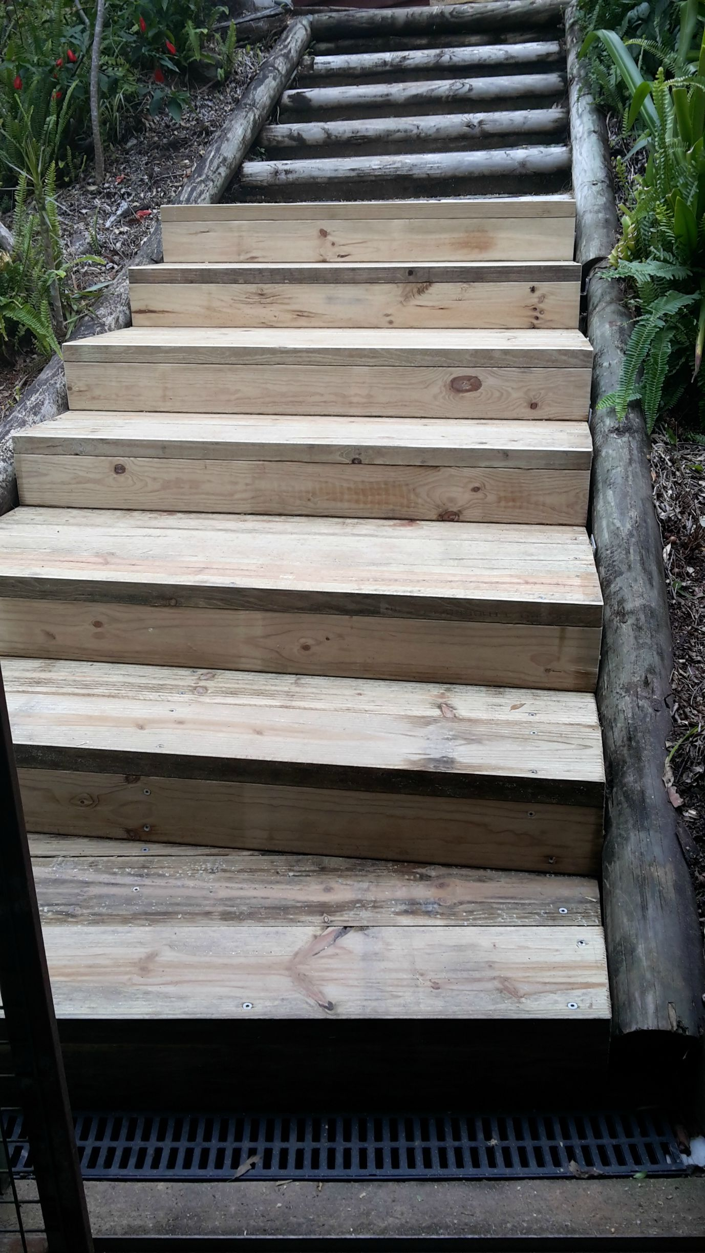 Building Wooden Steps With Treated Pine Sleepers