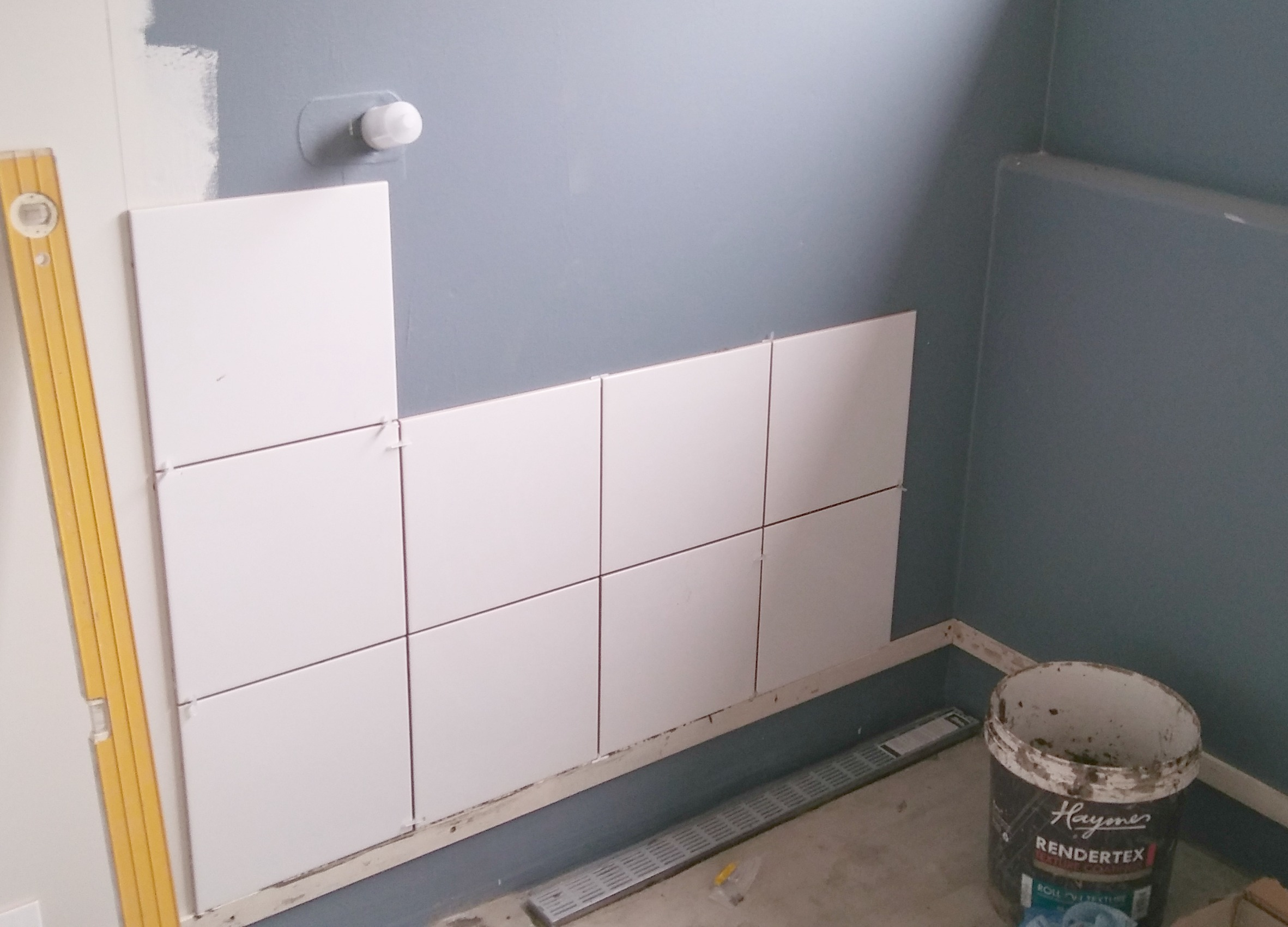 shower wall tiling