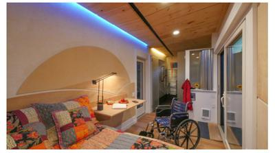 Wheelchair friendly tiny house proves universal design can for Wheelchair accessible homes for sale near me