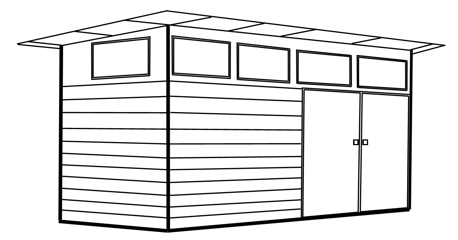 Lean to shed 3D