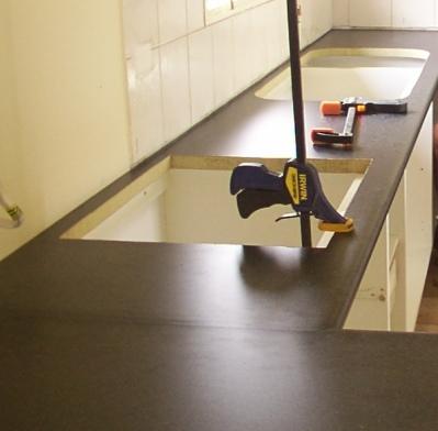 kitchen benchtop installatio
