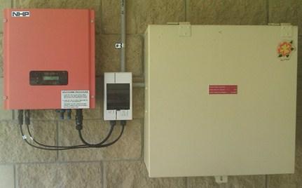 Inverter, splitter and fusebox