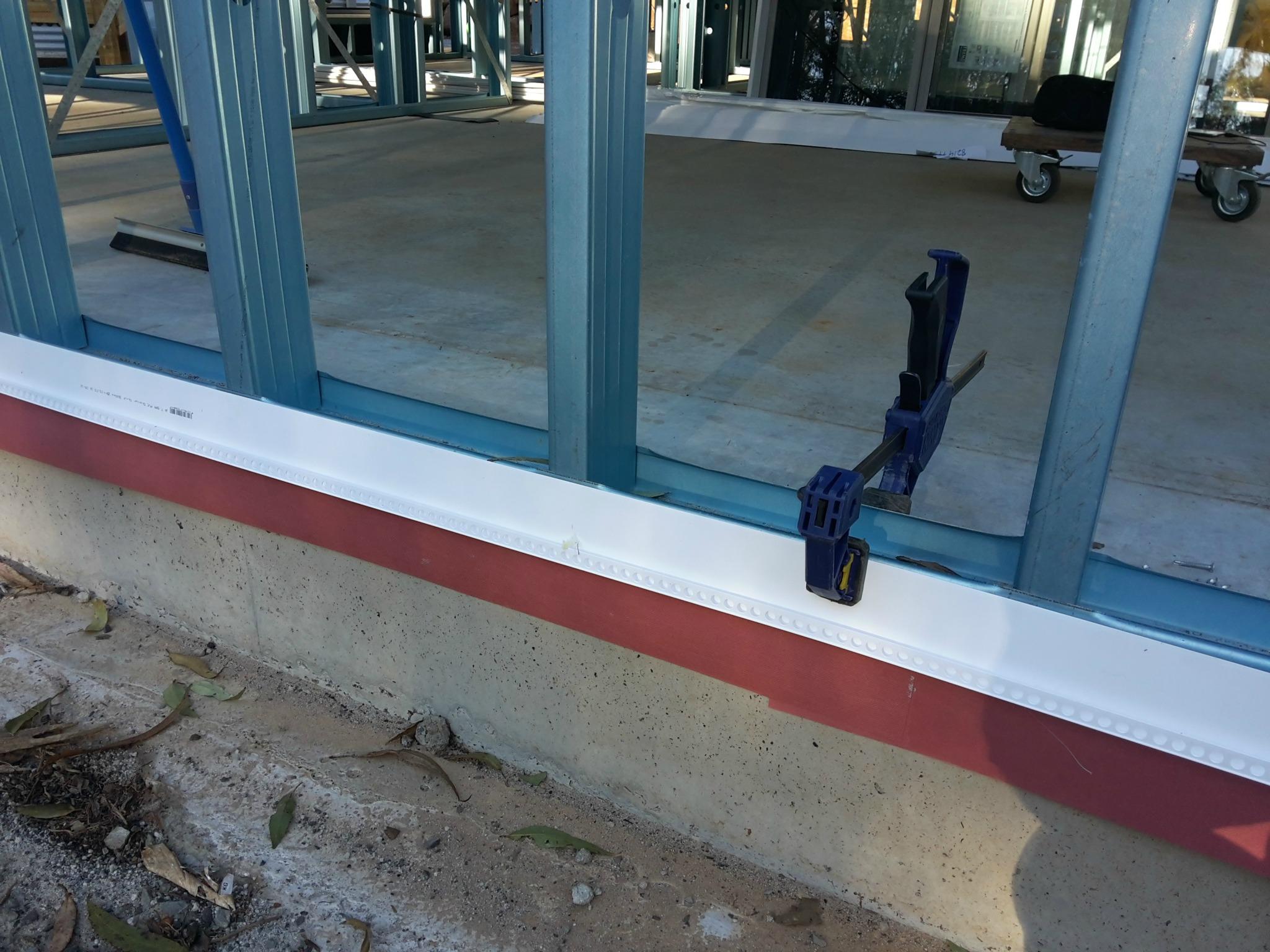 external blueboard starter strip