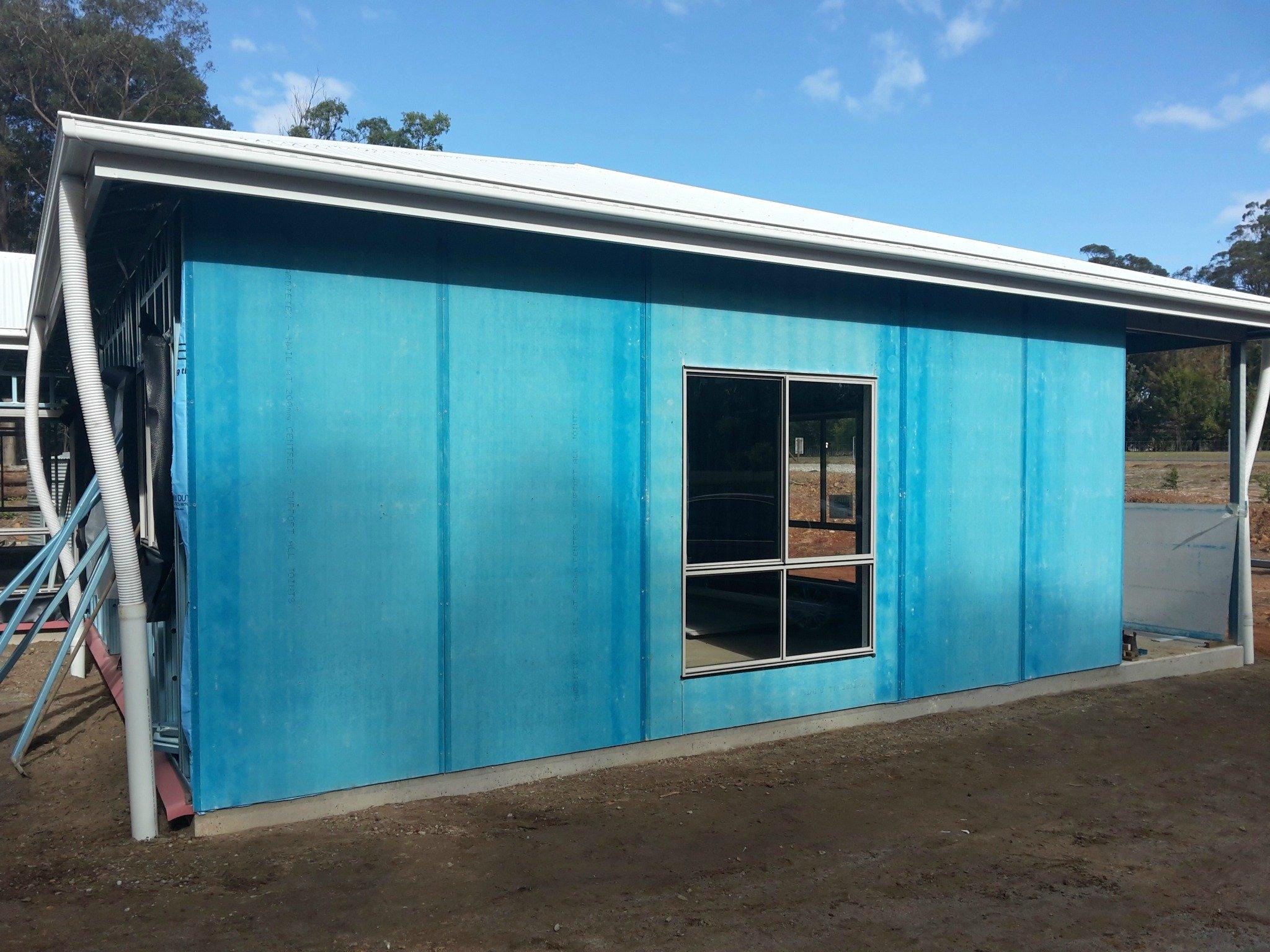 External blueboard installed