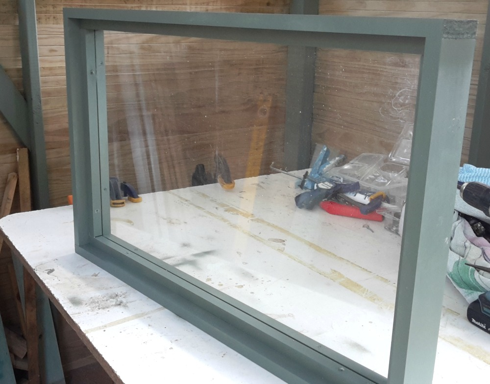 Completed shed window