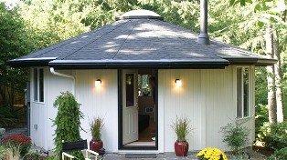 Small wooden yurt