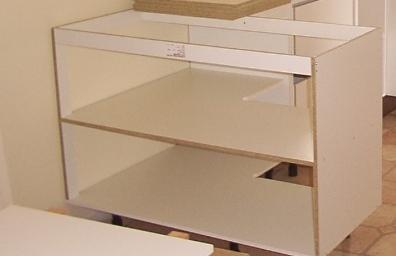 Built corner kitchen carcas
