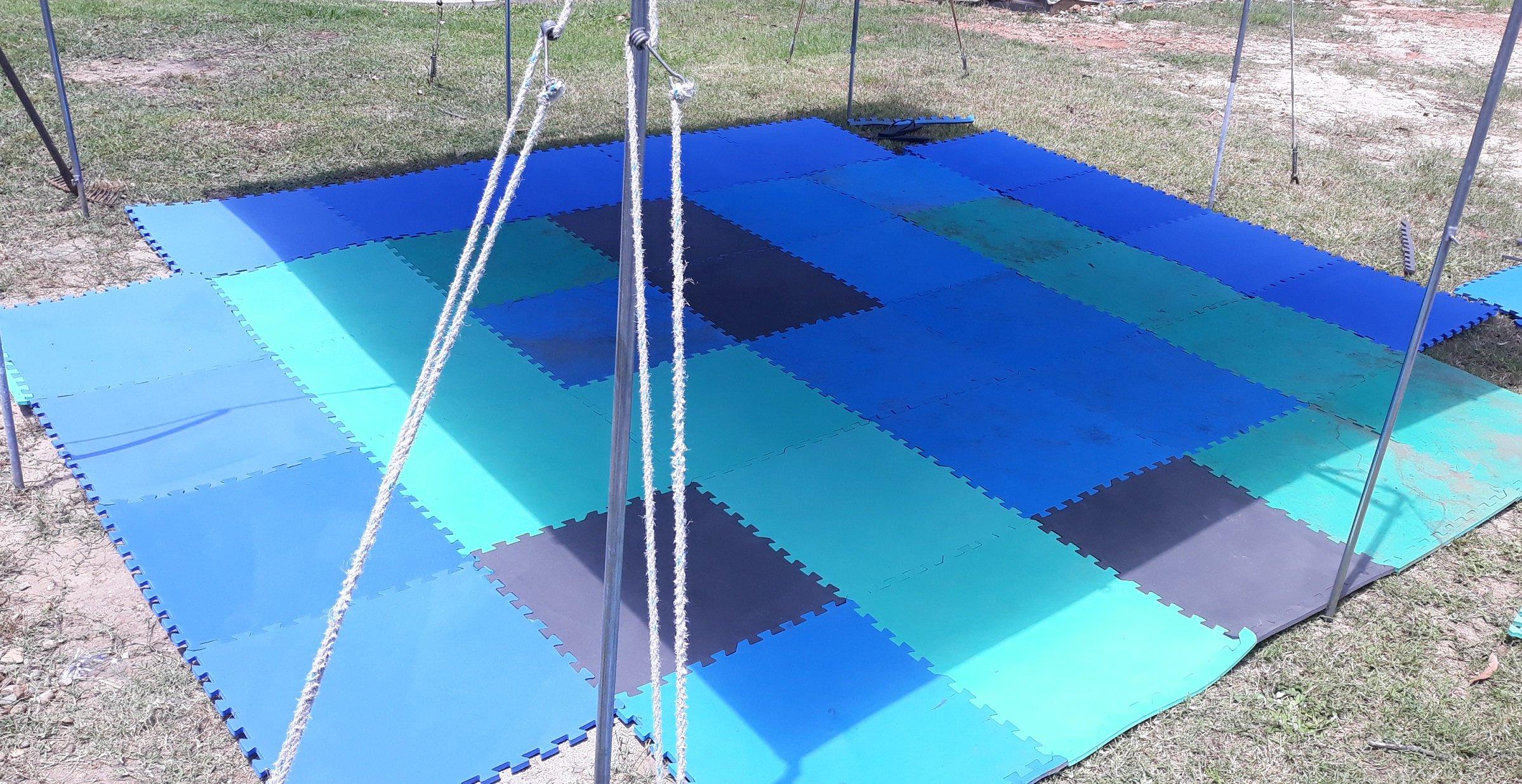 above ground pool base