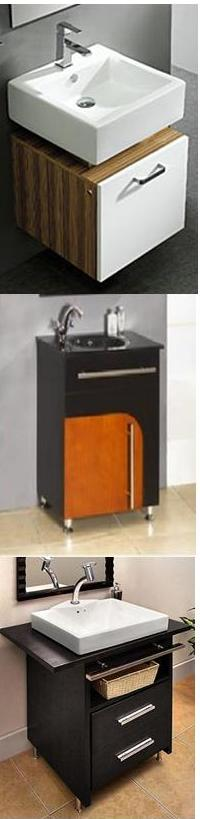 Installing small bathroom vanities in kit homes for Small bathroom kits