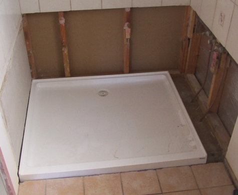 Check shower base positioning