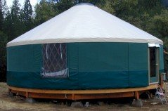 Traditional yurt structure
